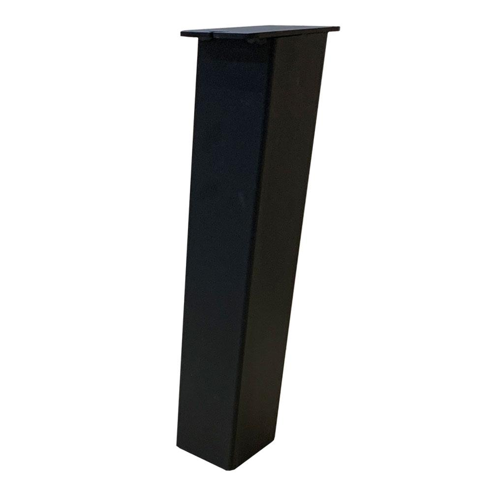 Set 4 zwarte schuine tafelpoten 43 cm (koker 8 x 8 cm)