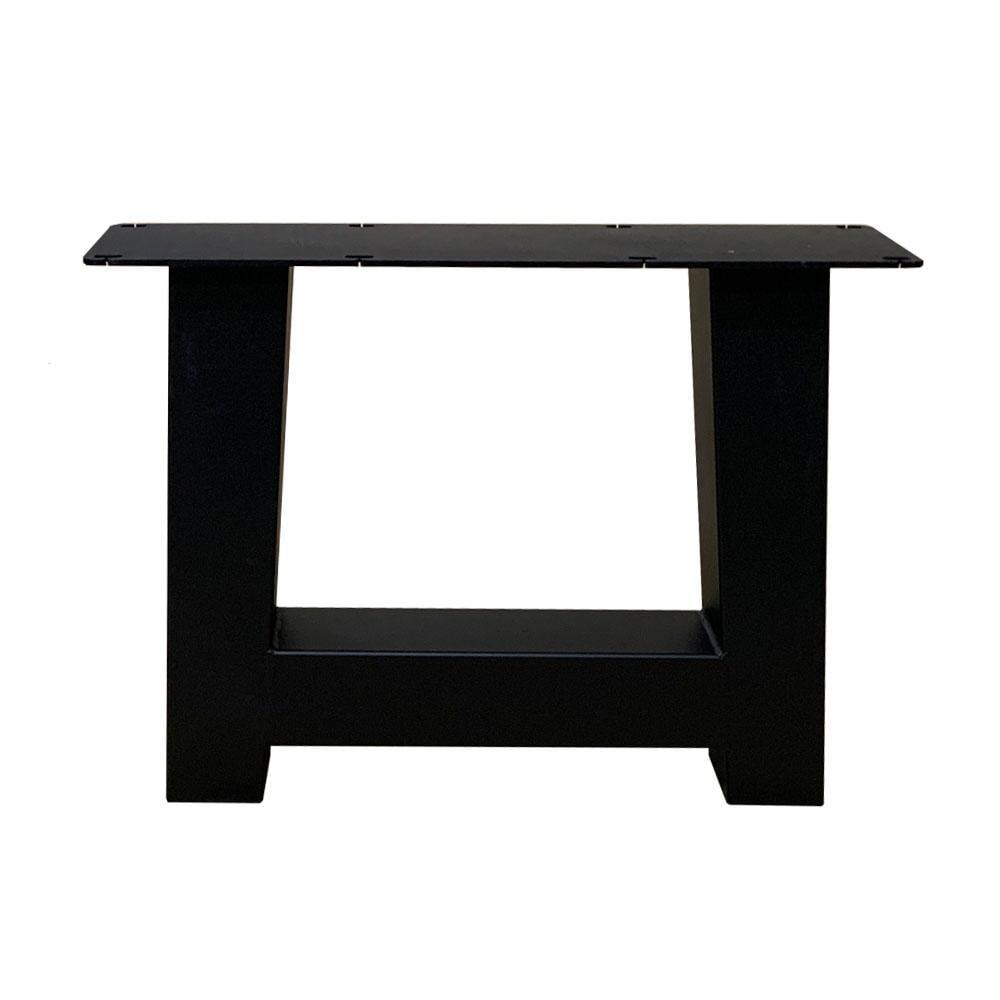 Set zwarte A tafelpoten 40 cm met stelvoeten (koker 8 x 8)