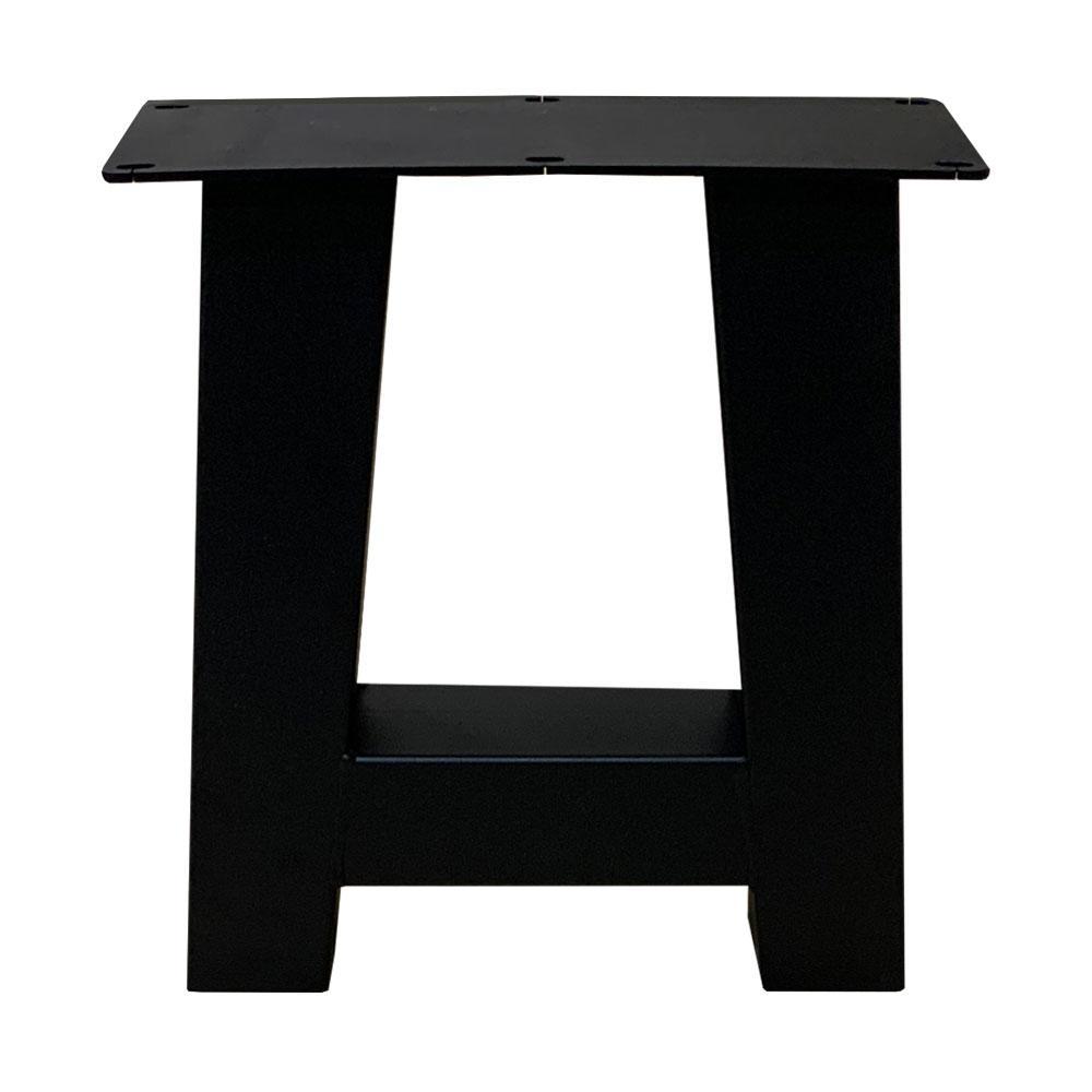 Set zwarte A tafelpoten 43 cm met stelvoeten (koker 8 x 8)