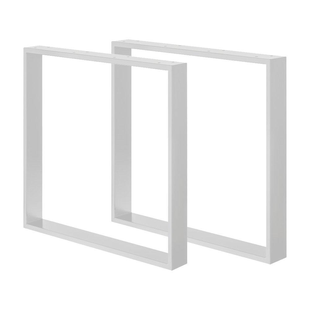 Set witte U tafelpoten 72 cm (koker 8 x 2)