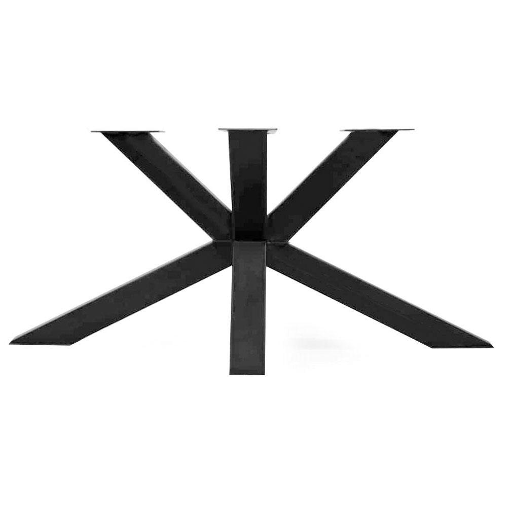 Zwarte matrix tafelonderstel 73 cm en 2 m breed (koker 10 x 10)