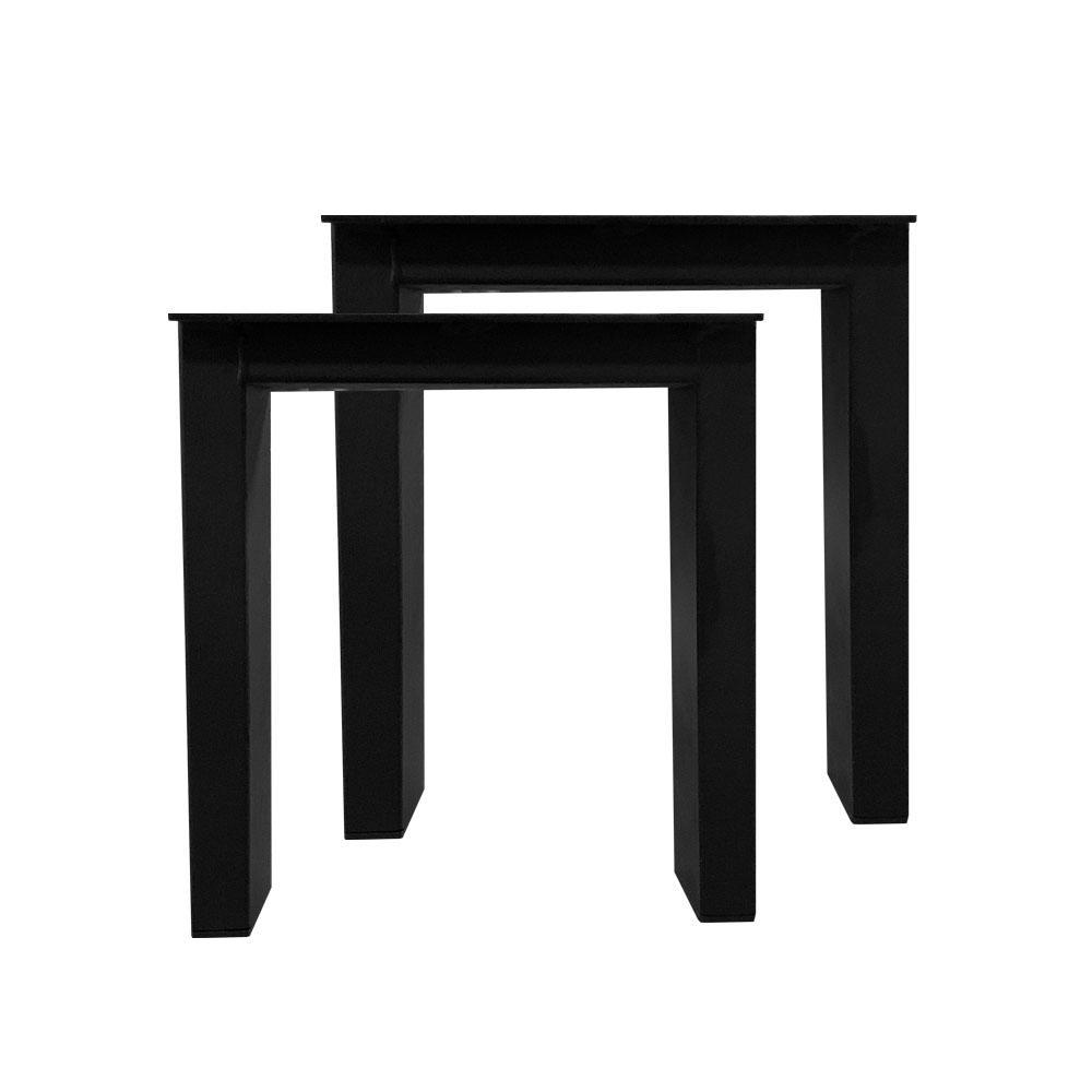 Set zwarte trapezium tafelpoten 40 cm (koker 10 x 4)