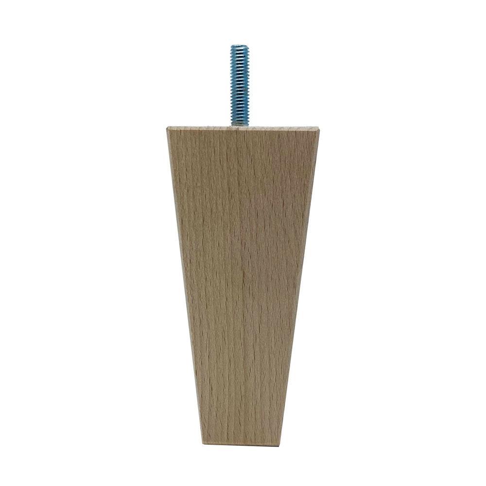 Houten trapezium meubelpoot 13 cm (M8)