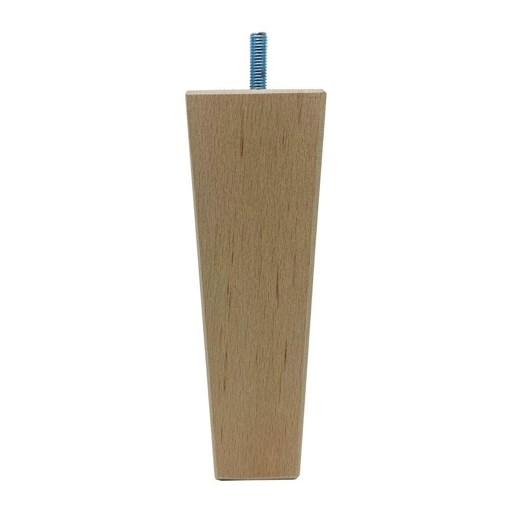 Houten trapezium meubelpoot 16 cm (M8)