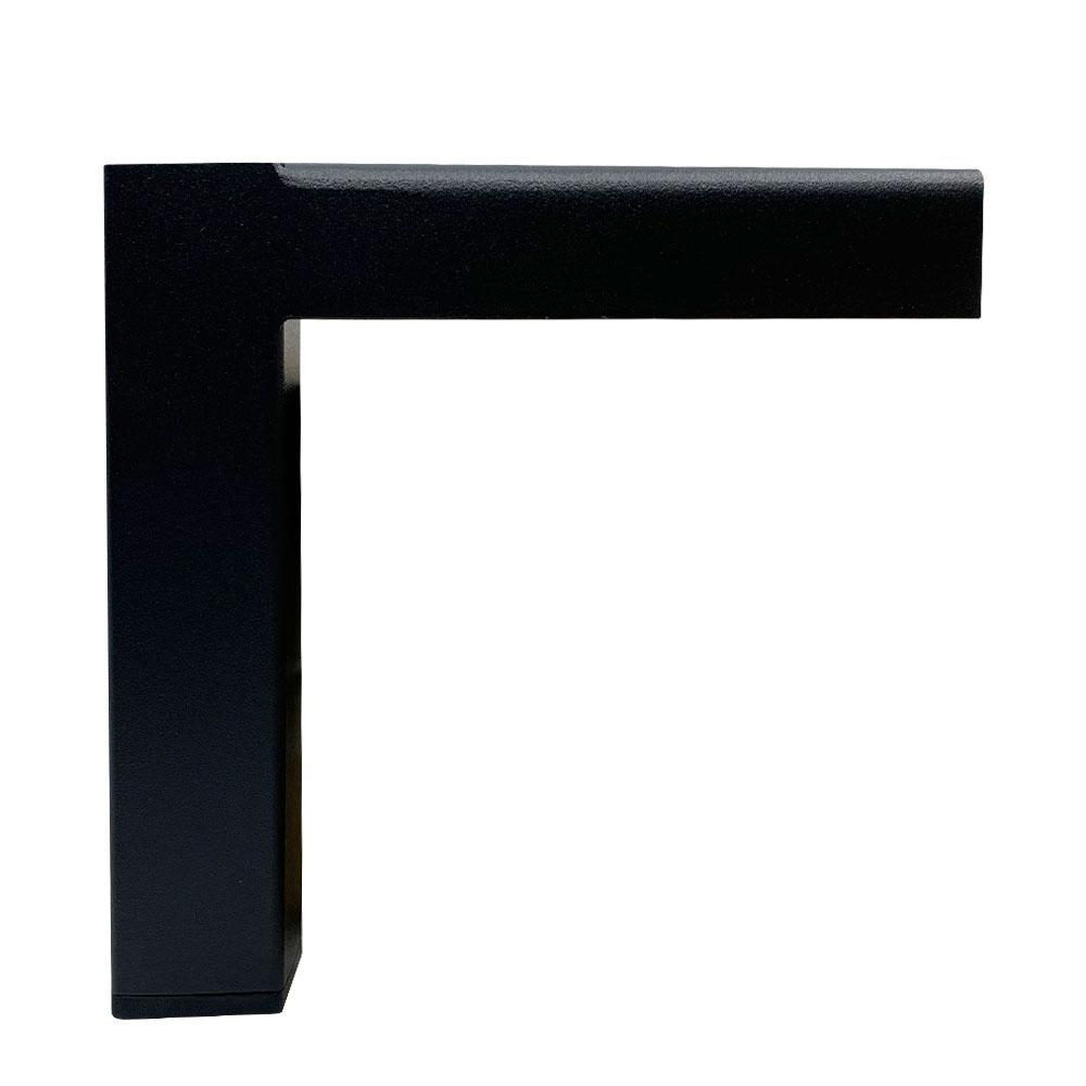 Zwarte stalen hoekpoot 14,5 cm