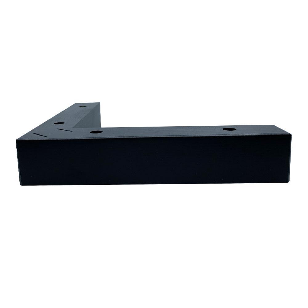 Zwarte houten hoekpoot 4,5 cm
