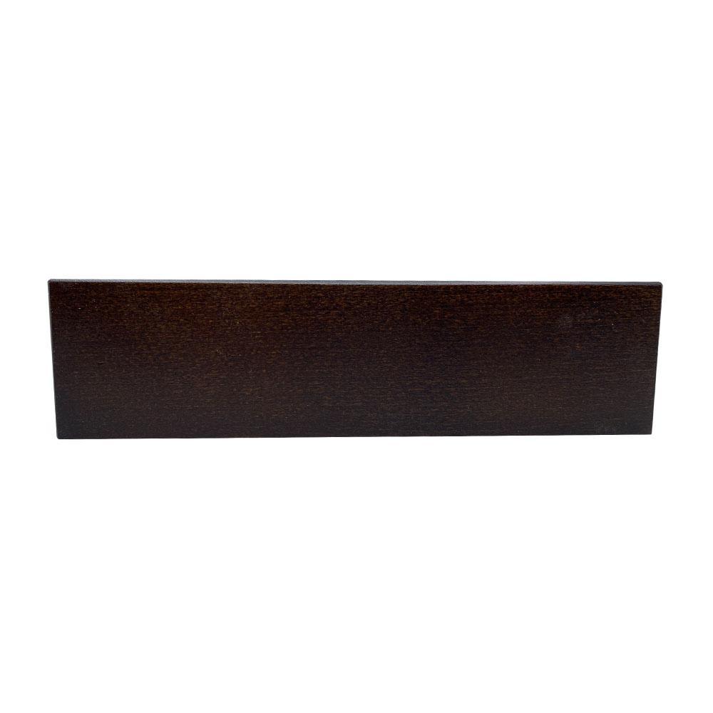 Rechthoekige donkerbruine houten meubelpoot hoogte 6 cm