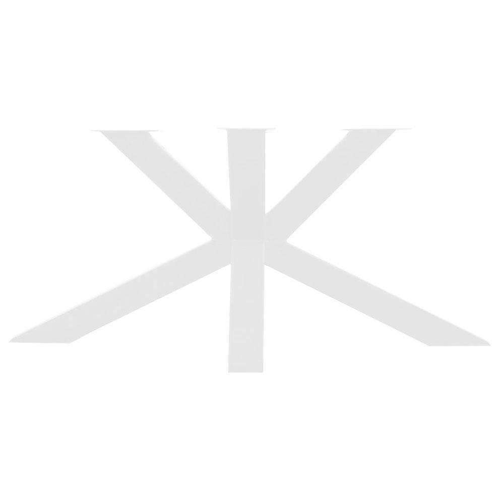 Witte matrix tafelonderstel 73 cm en 2 m breed (koker 10 x 10)