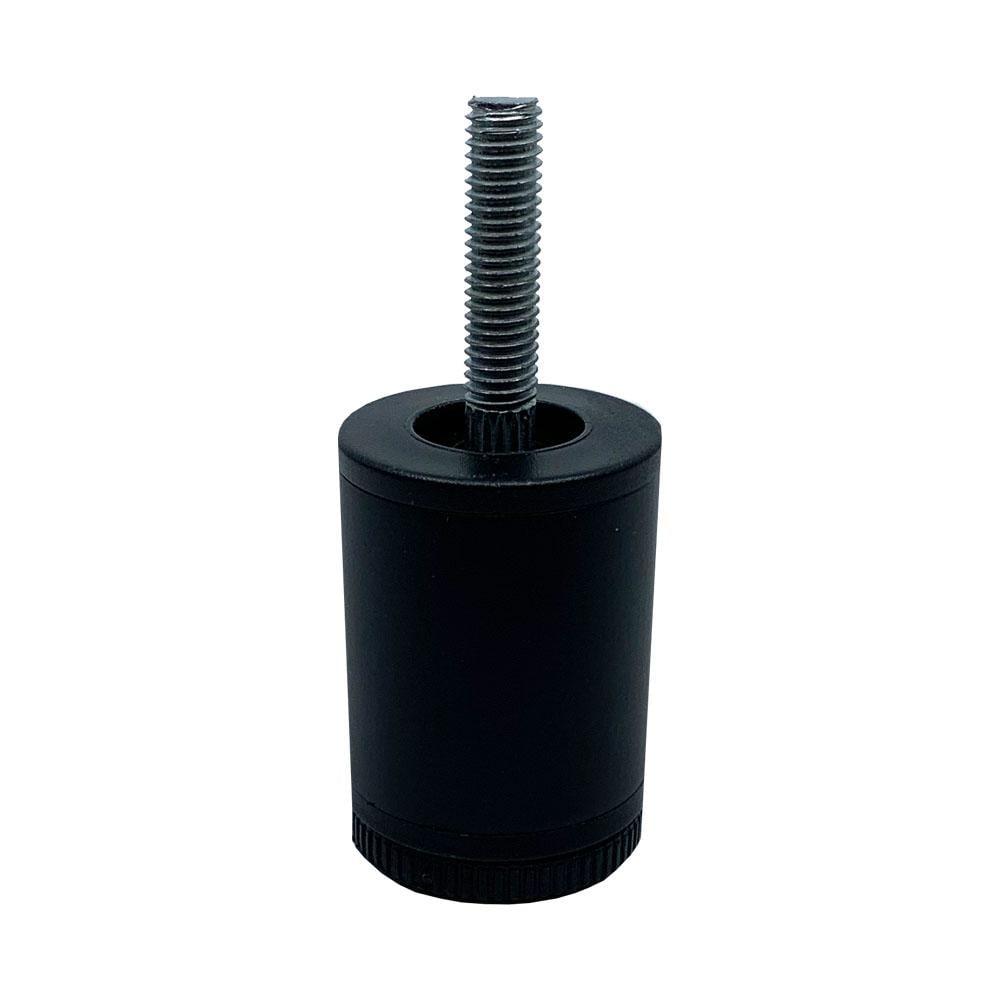 Zwarte ronde meubelpoot 6 cm (M10)