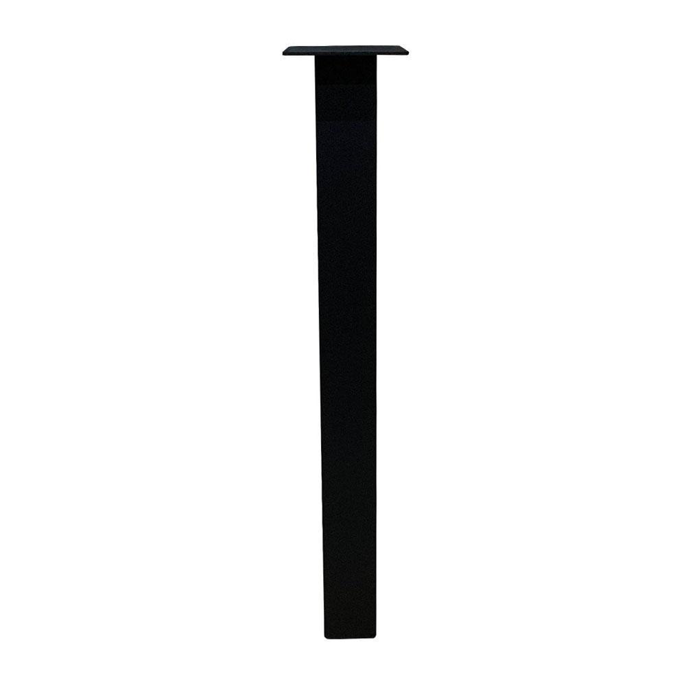 Set 4 zwarte rechte tafelpoten 72 cm (koker 6 x 6 cm)