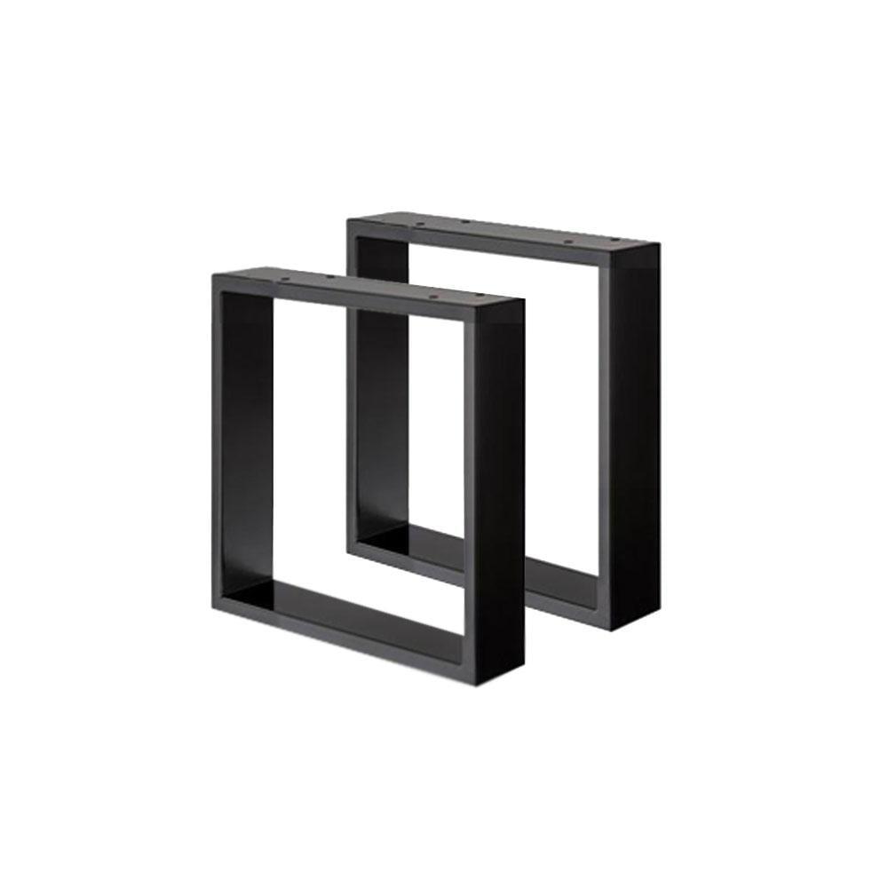 Set zwarte U tafelpoten 40 cm (koker 8 x 2)