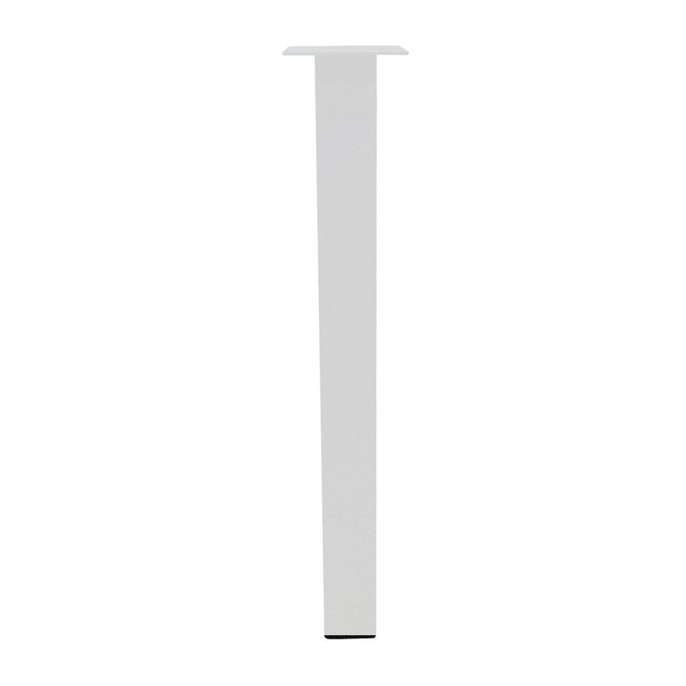 Set 4 witte rechte tafelpoten 72 cm (koker 6 x 6 cm)