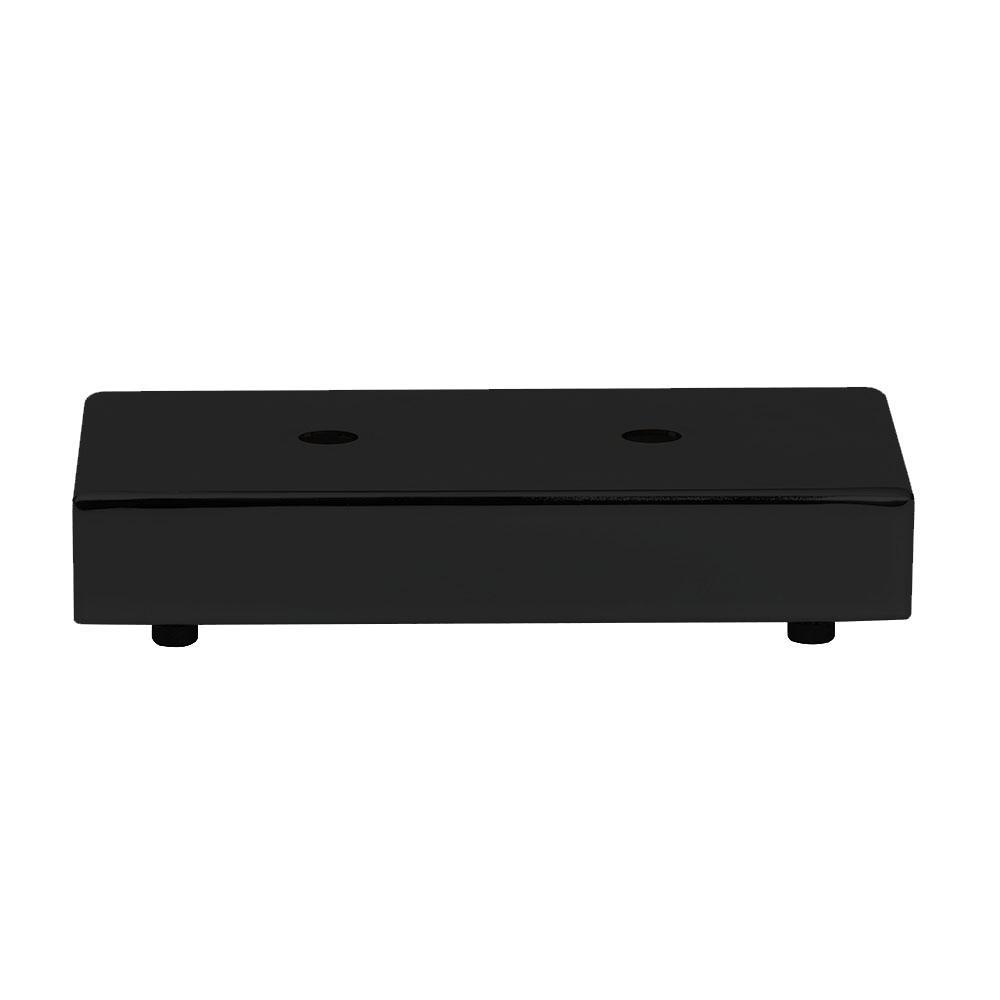 Zwarte rechthoek meubelpoot 3,5 cm