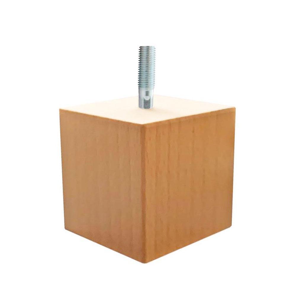 Vierkanten houten meubelpoot 5 cm (M8)
