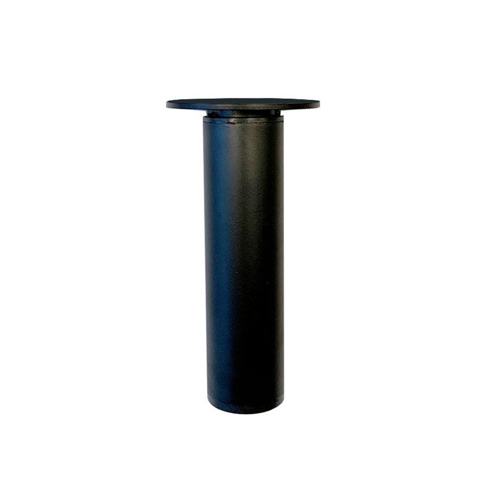 Ronde verstelbare zwarte meubelpoot 12,5 cm