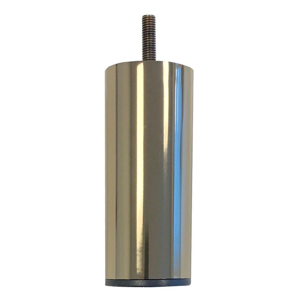 Goudkleurige ronde meubelpoot 12 cm (M8)
