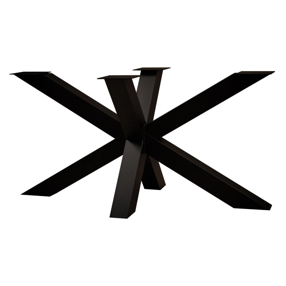 Zwarte stalen matrix tafelpoot hoogte 72 cm en breedte 140 cm (koker 10 x 10)