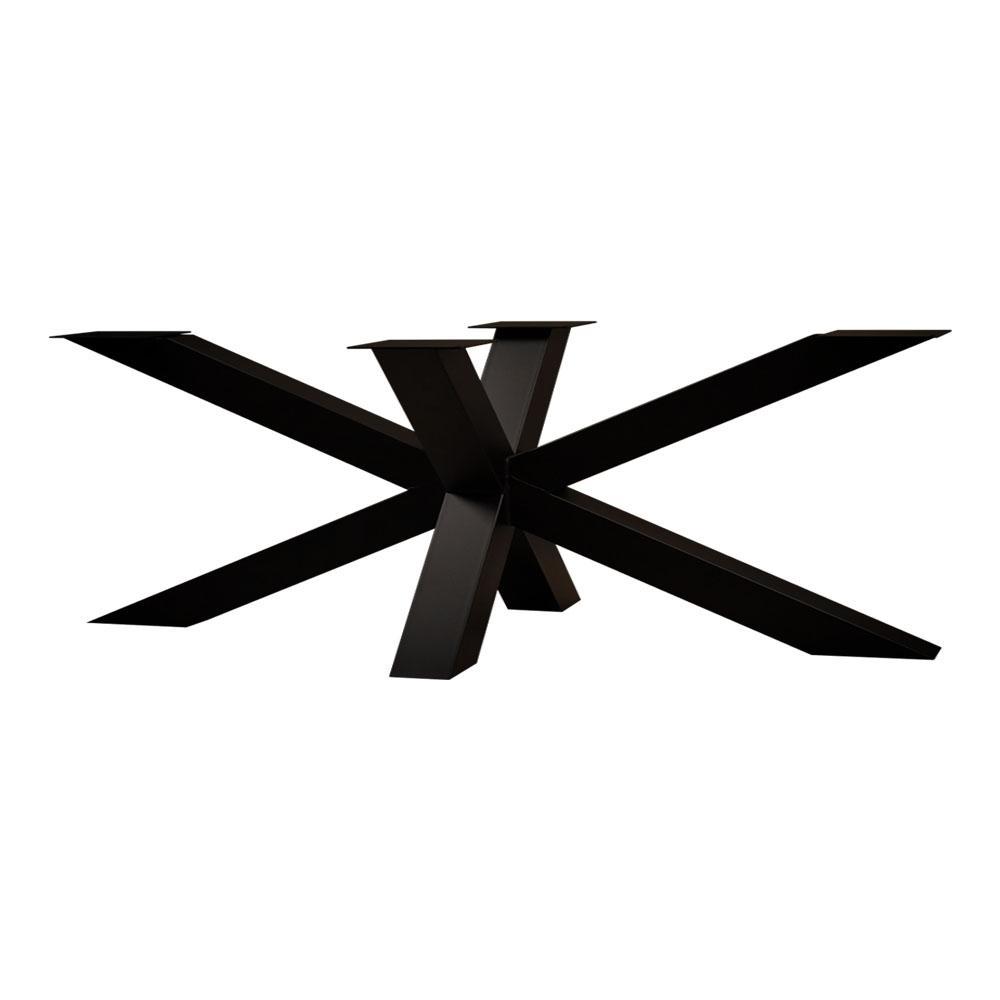 Zwarte stalen matrix tafelpoot hoogte 72 cm en breedte 240 cm (koker 10 x 10)