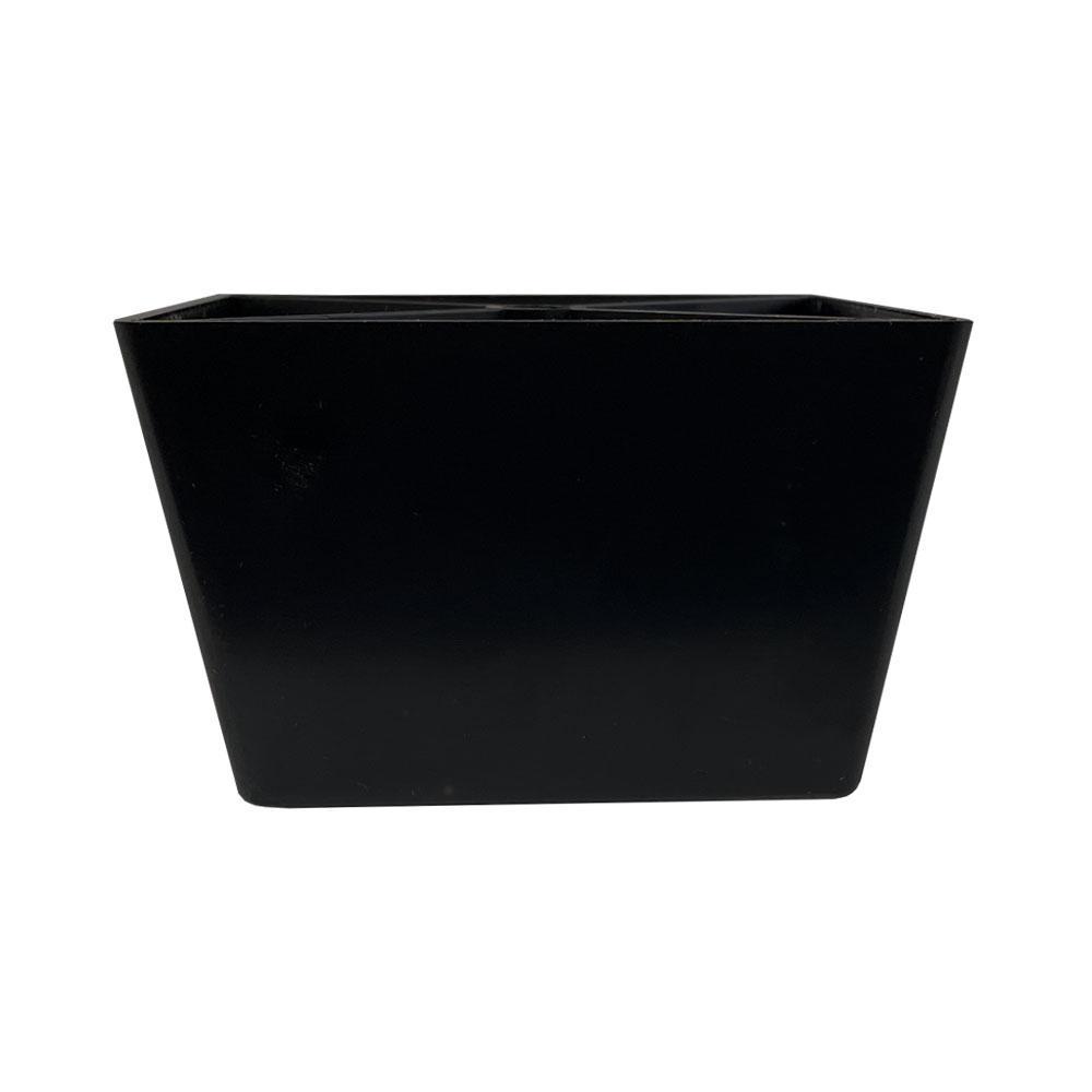 Zwarte plastic tapse meubelpoot 6 cm